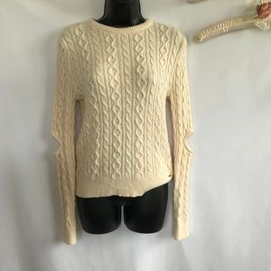 Forever 21 Cream Knit Sweater Top